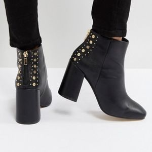{New Look} studded back heeled ankle boot